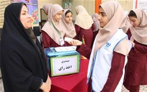 انتخابات شورای دانش آموزی دبیرستان شهیده سهام خیام بوشهر برگزار شد