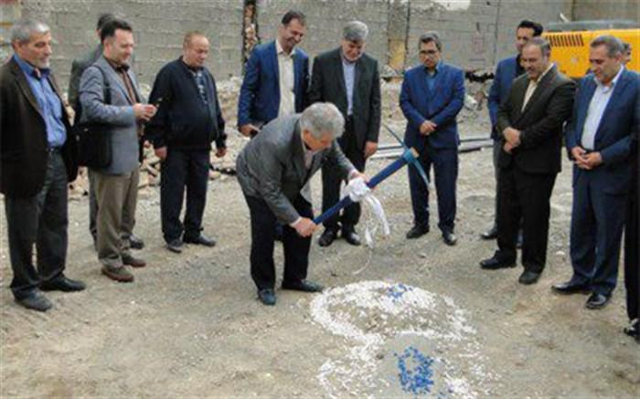 عملیات ساخت مدرسه خیرساز گل نراقی در منطقه 10تهران آغاز شد