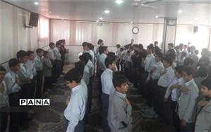 گرامیداشت اربعین حسینی در دبیرستان پسرانه شهید ذوالفقاری میبد
