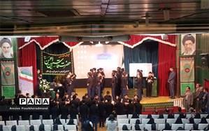حضور هیئت عزاداری دبیرستان  شهید صدوقی دوره اول در مراسم گرامیداشت اربعین دبیرستان فرزانگان دوره دوم