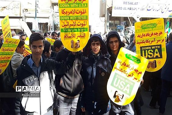 راهپیمایی سیزده آبان در زنجان