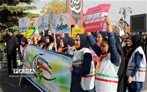 راهپیمایی یوم الله ۱۳ آبان در سراسر آذرایجان غربی برگزار شد