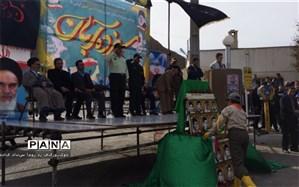ادای احترام به مقام شامخ شهدای دانش آموزدر شهرستان فیروزکوه