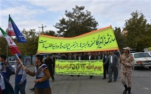 دانش آموزان و فرهنگیان شهرستان دیواندره با آرمانهای والای انقلاب اسلامی تجدید عهد کردند