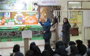نواخته شدن زنگ استکبار ستیزی در دبیرستان دخترانه 17 شهریور فیروزکوه