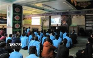 گرامیداشت هفته بسیج دانش آموزی در دبیرستان شهید صدوقی دوره دوم
