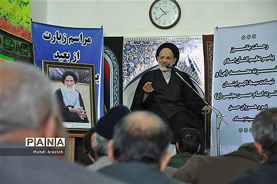مراسم سومین سالگرد ابوالشهیدآیت الله سید احمد عبادی در مسجد جامع شهر خوسف