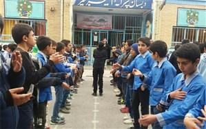 اجرای مراسم تعزیه خوانی در دبستان امیر کبیر فیروزکوه