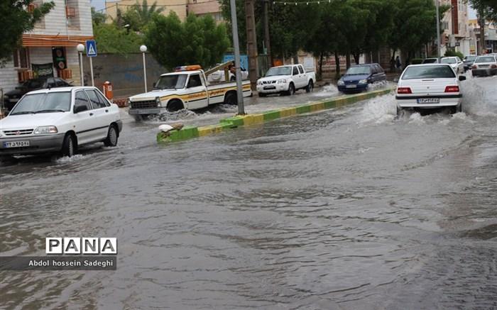 آبگرفتگی خیابانهای بوشهر