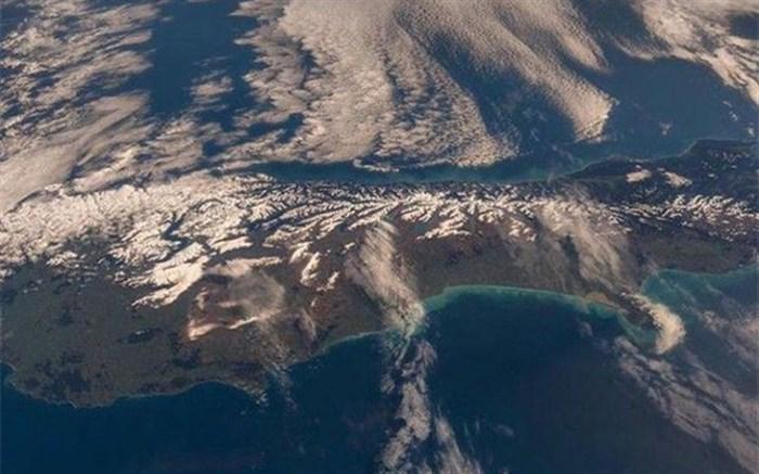 نیوزیلند از منظر فضا+تصاویر
