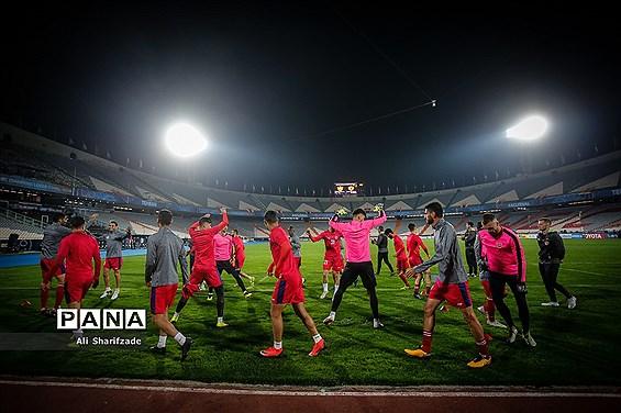 تمرین تیمهای پرسپولیس و کاشیما آنتلرز پیش از بازی فینال جام باشگاههای آسیا