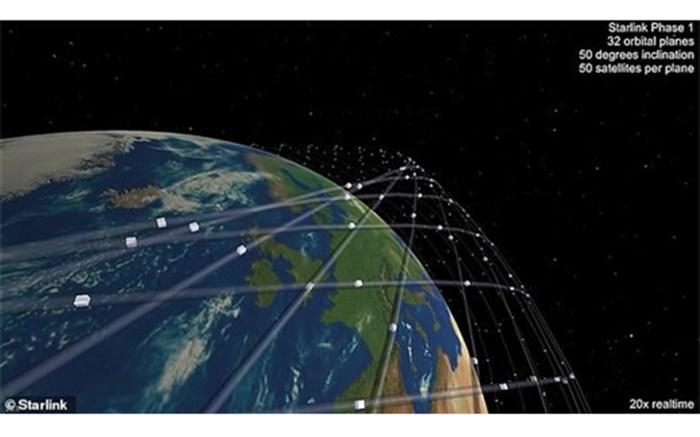 اینترنت فضایی ایلان ماسک با ۱۶۰۰ ماهواره چگونه کار میکند + تصاویر