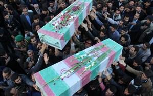 تشییع و خاکسپاری دو پدر شهید در خراسان جنوبی