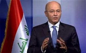 برهم صالح: در صورت جنگ، عراق قادر نخواهد بود میان ایران و آمریکا یکی را انتخاب کند