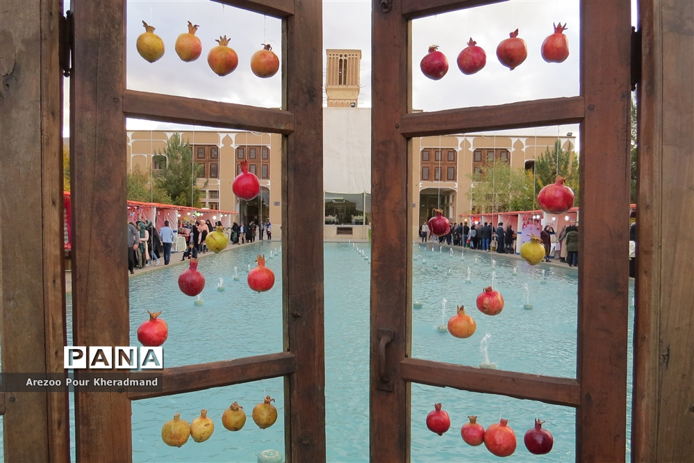برگزاری جشنواره انار در باغ صدری شهرستان تفت در یزد