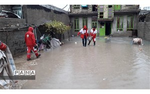 امداد رسانی جمعیت هلال احمر  کهگیلویه و بویراحمد به 387 خانوار متاثر از  سیل و آبگرفتگی