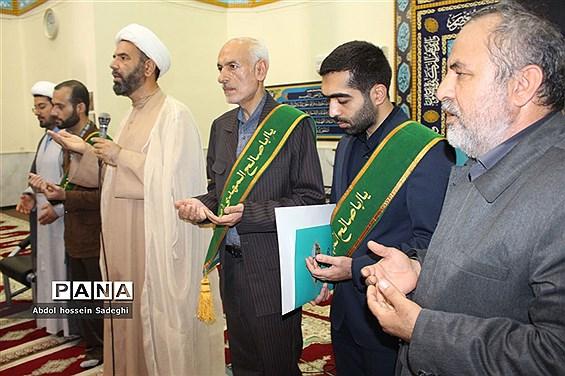 دیدار خادمان مسجد جمکران با دانشجویان و مسئول نهاد رهبری در دانشگاه خلیج فارس بوشهر