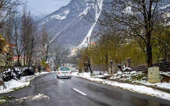 جاده - بارش برف