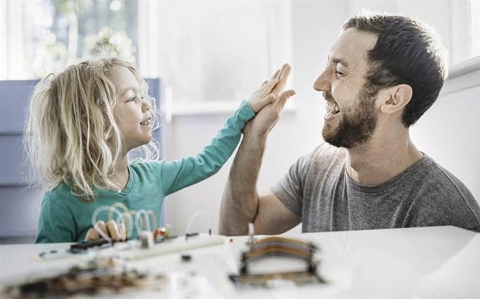 کودک و والدین پدر