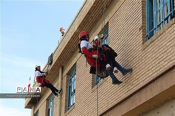 مانورسراسری زلزله و ایمنی مدارس در کرمان