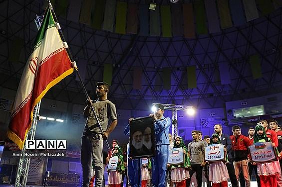 آئین افتتاحیه رقابت های بین المللی کشتی «جام شاهد»