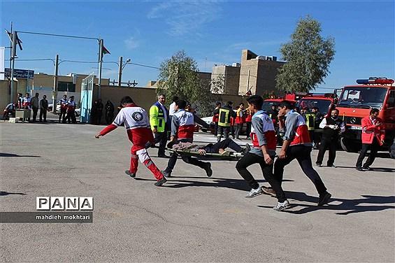 بیستمین مانور سراسری زلزله در مدارس استان یزد