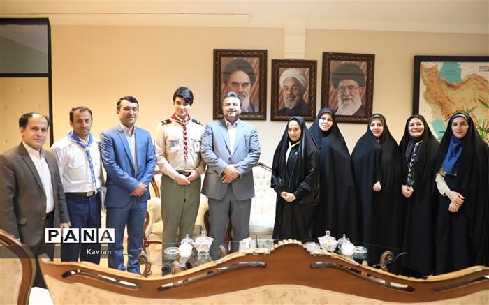 دیدار سازمان دانشآموزی با استاندار