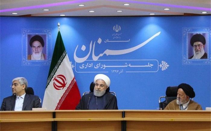 رئیس جمهوری: آمریکا به دلیل ناتوانی در رسیدن به هدفهای منطقهای به تحریم ایران رو آورده است