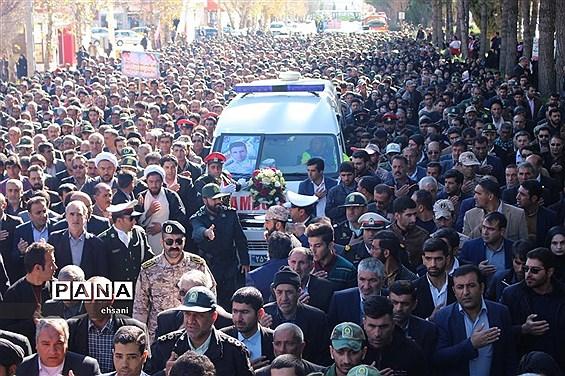 تشییع پیکر مطهر شهید حادثه تروریستی چابهار در یاسوج