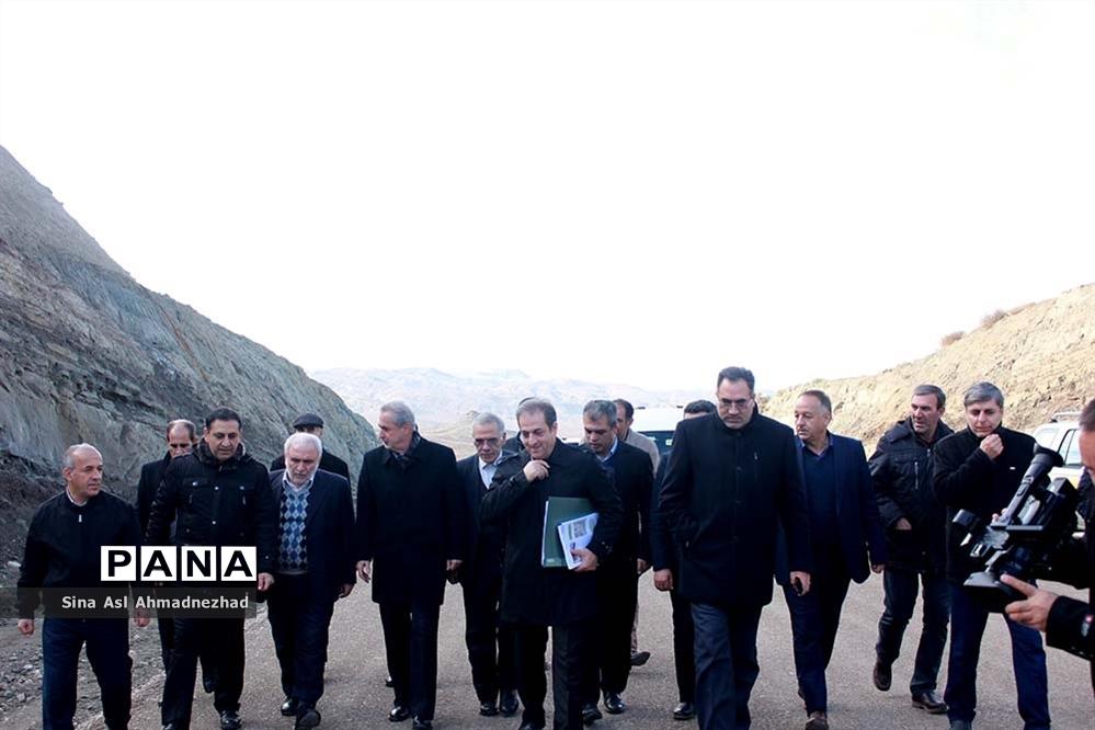 بازدید استاندار آذربایجان شرقی از عملیات اجرایی بزرگراه تبریز اهر