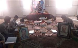 گرامیداشت هفته قرآن و پژوهش در دبیرستان شهید ذوالفقاری میبد