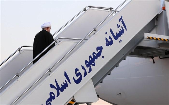 روحانی در هواپیما