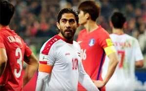 کاپیتان تیم ملی سوریه جام ملتهای آسیا را از دست داد