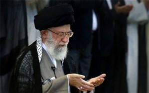 رهبر انقلاب بر پیکر آیت الله هاشمی  شاهرودی نماز میگذارند