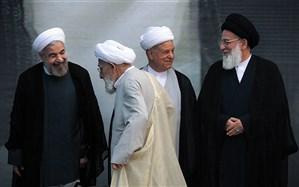 تصویر/ هاشمی رفسنجانی، هاشمی شاهرودی، مهدوی کنی و حسن روحانی در یک قاب
