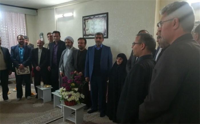 دیدار با خانواده شهید البرز