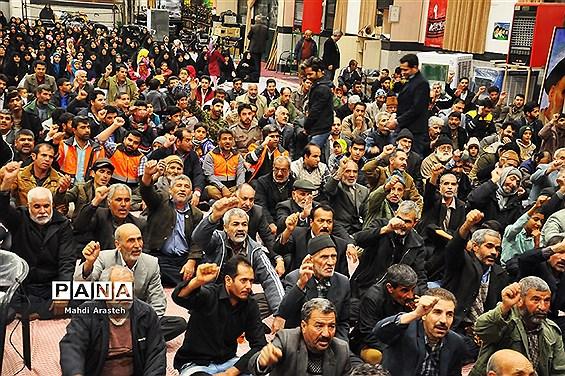 تجدیدمیثاق دوباره مردم شهرستان خوسف در شب نهم دیماه