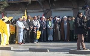 حضور جمع کثیری از فرهنگیان استان قزوین در حماسه 9 دی