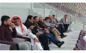 ژاوی تماشاگر ویژه بازی ایران و قطر + تصویر