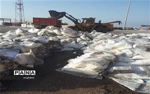 170 تن شکر غیر قابل مصرف در شادگان معدوم شد