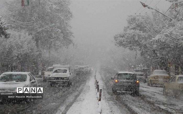 اولین برف زمستانی در ارومیه