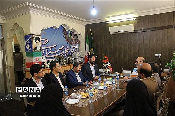 دیدار مدیر سازمان دانشآموزی سیستان و بلوچستان با رئیس اتحادیه انجمنهای اسلامی دانشآموزان