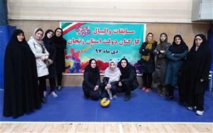 کسب مقام قهرمانی تیم والیبال خواهران در مسابقات ورزشی کارکنان دولت