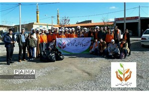 اجرای طرح پاکبانی باحضورطلاب شهرستان شیروان