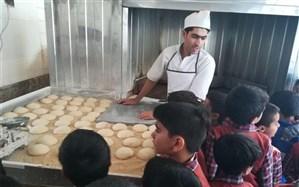 تدریس نشانه «ن» با طعم نان گرم در نانوایی