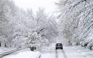 بارش برف و باران در محورهای 14 استان کشور