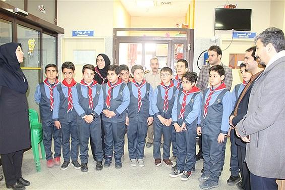 بازدید سازمان دانشآموزی استان همدان از بیمارستان بعثت