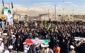 برگزاری مراسم تشییع پیکر شهدای سانحه هواپیمای بوئینگ ۷۰۷ در پایگاه شهید لشگری تهران
