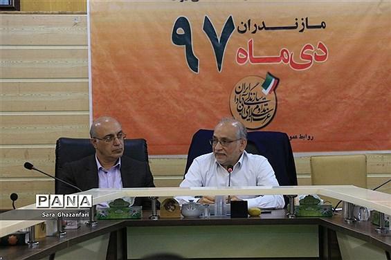 نشست خبری حسین مرعشی سخنگوی حزب کارگزاران سازندگی در ساری