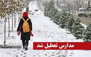 تعطیلی برخی از مدارس استان یکشنبه 30 دی ماه بعلت برودت هوا، بارش برف و یخبندان سطح معابر